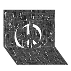 Gray pattern Peace Sign 3D Greeting Card (7x5)
