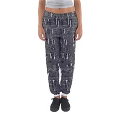 Gray Pattern Women s Jogger Sweatpants