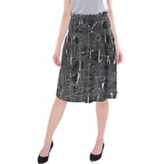Gray pattern Midi Beach Skirt
