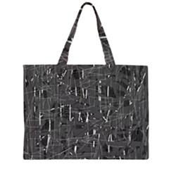 Gray pattern Large Tote Bag