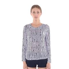 Gray pattern Women s Long Sleeve Tee