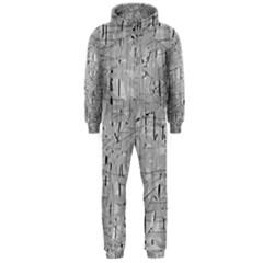 Gray pattern Hooded Jumpsuit (Men)