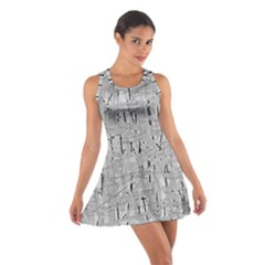 Gray Pattern Racerback Dresses