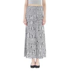 Gray pattern Maxi Skirts