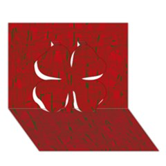 Red pattern Clover 3D Greeting Card (7x5)