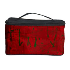 Red pattern Cosmetic Storage Case