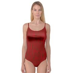 Red pattern Camisole Leotard