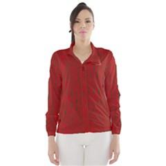 Red pattern Wind Breaker (Women)
