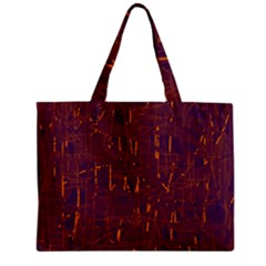 Purple pattern Zipper Mini Tote Bag