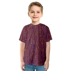 Purple pattern Kid s Sport Mesh Tee