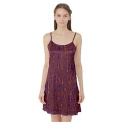 Purple pattern Satin Night Slip