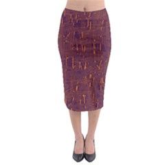 Purple pattern Midi Pencil Skirt