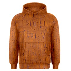 Orange pattern Men s Pullover Hoodie
