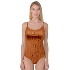 Orange pattern Camisole Leotard