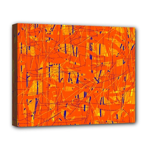 Orange pattern Deluxe Canvas 20  x 16
