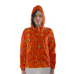 Orange pattern Hooded Wind Breaker (Women)