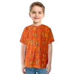 Orange pattern Kid s Sport Mesh Tee