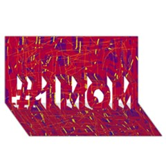 Red and blue pattern #1 MOM 3D Greeting Cards (8x4)
