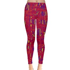 Red and blue pattern Leggings
