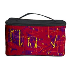 Red and blue pattern Cosmetic Storage Case