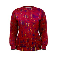 Red and blue pattern Women s Sweatshirt