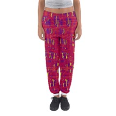 Red and blue pattern Women s Jogger Sweatpants