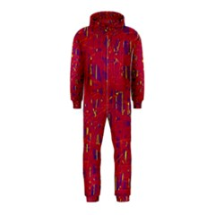 Red and blue pattern Hooded Jumpsuit (Kids)