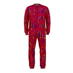 Red and blue pattern OnePiece Jumpsuit (Kids)