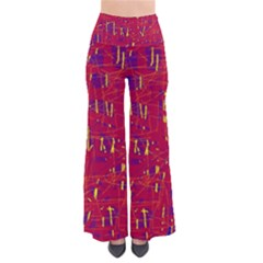 Red and blue pattern Pants