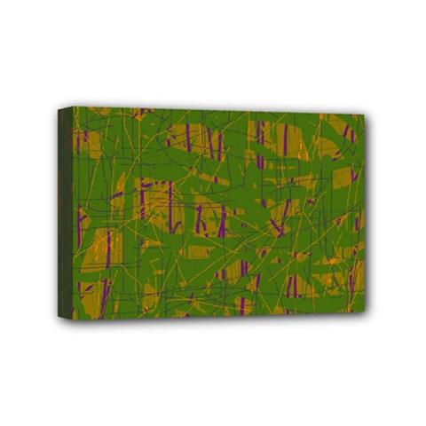 Green pattern Mini Canvas 6  x 4