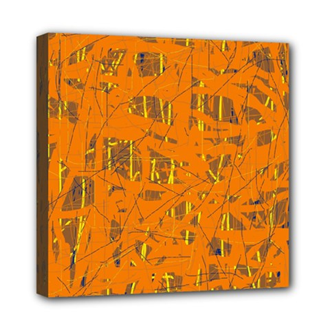 Orange pattern Mini Canvas 8  x 8