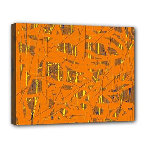 Orange pattern Canvas 14  x 11