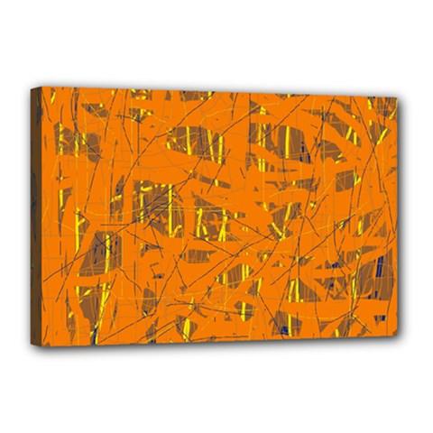 Orange pattern Canvas 18  x 12
