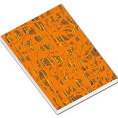 Orange pattern Large Memo Pads