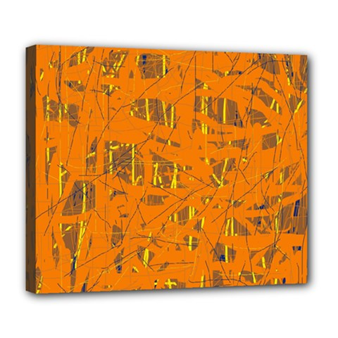 Orange pattern Deluxe Canvas 24  x 20