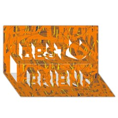 Orange pattern Best Friends 3D Greeting Card (8x4)