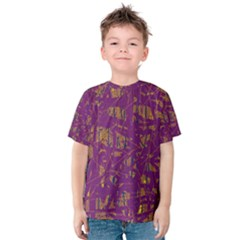 Purple Pattern Kid s Cotton Tee