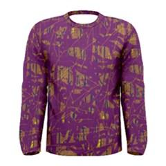 Purple pattern Men s Long Sleeve Tee