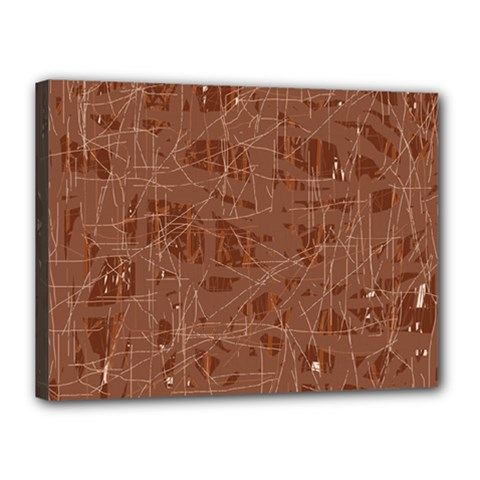 Brown Pattern Canvas 16  X 12