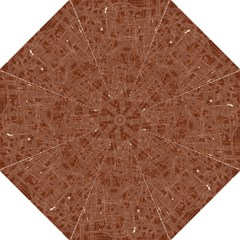 Brown pattern Straight Umbrellas