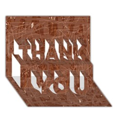 Brown pattern THANK YOU 3D Greeting Card (7x5)