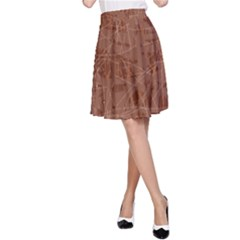 Brown pattern A-Line Skirt
