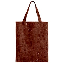 Brown pattern Zipper Classic Tote Bag