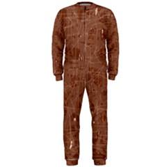 Brown pattern OnePiece Jumpsuit (Men)