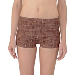 Brown pattern Reversible Boyleg Bikini Bottoms