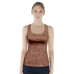 Brown pattern Racer Back Sports Top