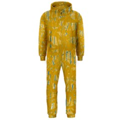 Yellow pattern Hooded Jumpsuit (Men)