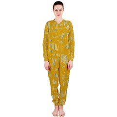 Yellow pattern OnePiece Jumpsuit (Ladies)