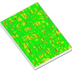 Neon green pattern Large Memo Pads