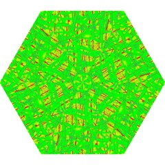 Neon green pattern Mini Folding Umbrellas